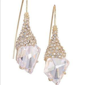 Alexis Bittar Crystal Hook Drop Earrings